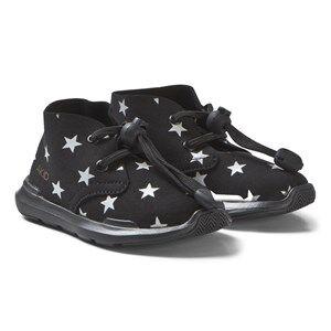 AKID Remington Stars Shoes Black and White Lasten kengt US 12 (UK 11, EU 30)