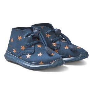 AKID Remington Stars Shoes Blue and Orange Lasten kengt US 4 (UK 3, EU 35)