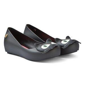 Mini Melissa Black Ultragirl Cat Ballerina Shoes Lasten kengt 31 (UK 12)