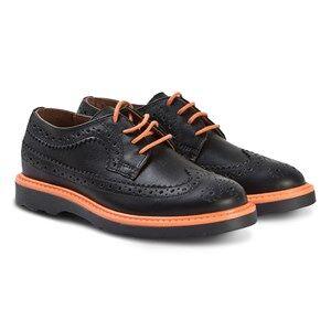 Paul Smith Junior Brogues Shoes Black and Orange Lasten kengt 30 (UK 12)