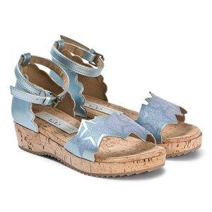 Stella McCartney Kids Silver Glitter Stars Sandals Lasten kengt 31 (UK 12.5)