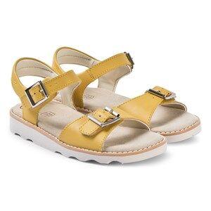Clarks Yellow Leather Crown Bloom Sandals Lasten kengt 33.5 (UK 1.5)