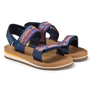 Toms Navy Ray Patterned Velcro Sandals Lasten kengt 37 (UK 4)