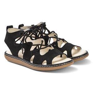Clarks Black Lace Up Skylark Sandals Lasten kengt 29.5 (UK 11.5)