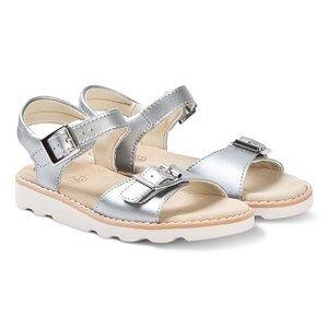 Clarks Silver Leather Crown Bloom Sandals Lasten kengt 33 (UK 1)