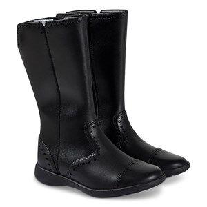 Clarks Brogue Boots Black Leather Lasten kengt 29 (UK 11)