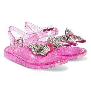 Lelli Kelly Pink Dalia Diamante Bow Jelly Sandals Lasten kengt 22 (UK 5)