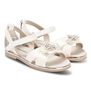 Image of Mayoral Off White Bow Embellished Detail Velcro Strap Sandals Lasten kengt 26 (UK 8.5)