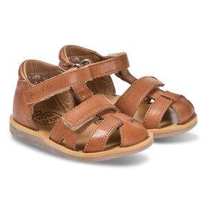 Pom Dapi Camel Leather Velcro Poppy Strap Sandals Lasten kengt 22 (UK 5)