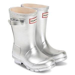 Hunter Original Rain Boots Silver Wellingtons