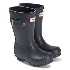 Hunter Original Kids Rain Boots Navy Wellingtons
