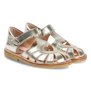 Angulus Gold Heart Cut Out Sandals Lasten kengt 22 (UK 5)