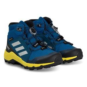 adidas Performance Terrex Mid Hiking Boots Blue and Yellow