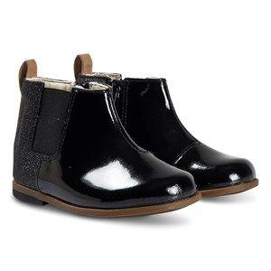 Clarks Drew Fun Boots Black Patent Sparkle Lasten kengt 32.5 (UK 13.5)