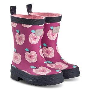 Hatley Pink Apple Orchard Wellies Wellingtons