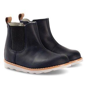 Clarks Crown Halo Boots Navy Leather Lasten kengt 32.5 (UK 13.5)