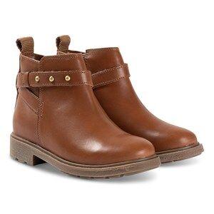 Clarks Astrol Soar Boots Tan Leather Lasten kengt 33 (UK 1)