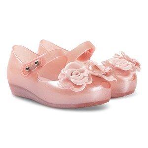 Mini Melissa Mini Flower Shoes Pink Glitter Lasten kengt 24 (UK 7)