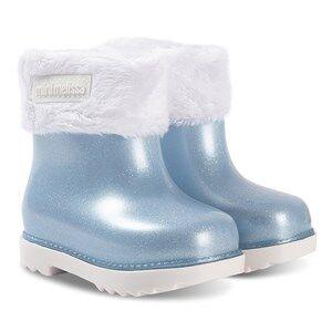 Mini Melissa Mini Winter Boots Blue Glitter Lasten kengt 24 (UK 7)