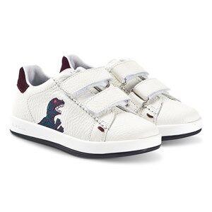 Paul Smith Junior Rabbit Dino Velcro Leather Sneakers White Lasten kengt 35 (UK 2.5)