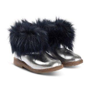Pom Dapi Retro Chabraque Boots Metal Grey and Navy Lasten kengt 28 (UK 10)