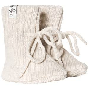 Little Jalo Knitted Baby Booties Cream Lasten kengt 62/68 cm