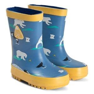 Frugi Puddle Buster Wellies Polar Play Wellingtons
