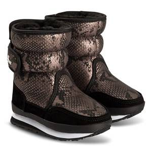 Rubber Duck Faux Leather Boots Snake Snow boots