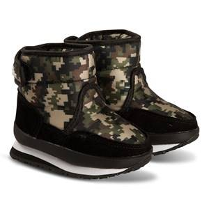 Rubber Duck Mid Boots Camo Green Snow boots