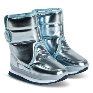 Rubber Duck Patent Boots Sky Pearl Snow boots