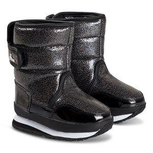 Rubber Duck Glitter Boots Black Snow boots