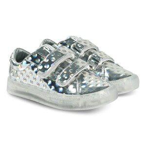 Pop Shoes St Laurent EZ Sneakers Dots Silver Lasten kengt 32 EU
