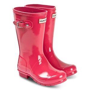 Hunter Original Kids Rain Boots Bright Pink Wellingtons