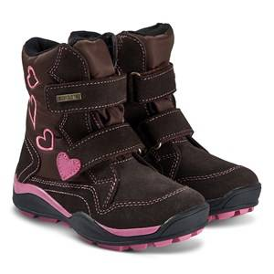 Lelli Kelly Ella Boots Brown and Fuchsia Snow boots