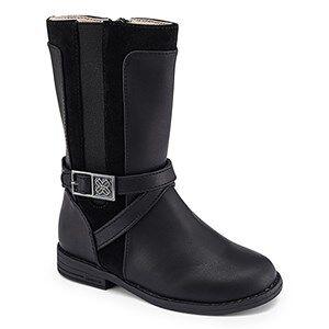 Image of Mayoral Midi Buckle Detail Zip Up Riding Boots Black Lasten kengt 26 (UK 8.5)