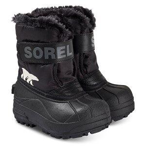 Sorel Childrens Snow Commander Boots Black/Charcoal Snow boots