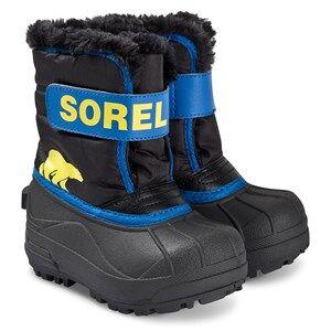 Sorel Childrens Snow Commander Boots Black/Super Blue Snow boots