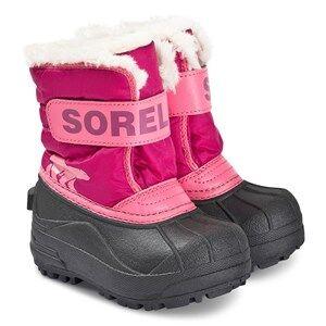 Sorel Childrens Snow Commander Boots Tropic Pink/Deep Blush Snow boots