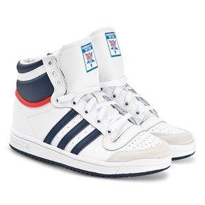 adidas Originals Top Ten Sneakers White and Dark Blue Lasten kengt 31 (UK 12.5)