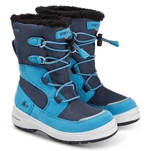 Viking Totak Boots Blue and Navy Snow boots