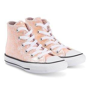 Converse Sparkly Chuck Taylor Hi Top Sneakers Barely Rose Lasten kengt 34 (UK 2)