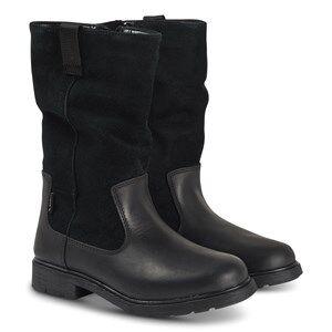 Clarks Astrol Rise Boots Black Leather Lasten kengt 33.5 (UK 1.5)