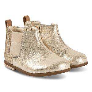 Clarks Drew Fun Boots Gold Patent Lasten kengt 32.5 (UK 13.5)