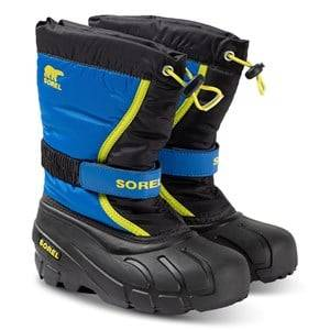 Sorel Youth Flurry Snow Boots Black/Super Blue