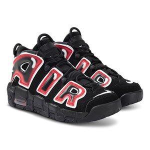 Image of NIKE Air More Uptempo Junior Sneakers Black and Laser Crimson Lasten kengt 35.5 (UK 3)