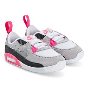 NIKE Max 90 Crib Shoes White and Particle Grey Lasten kengt 18.5 (UK 2.5)