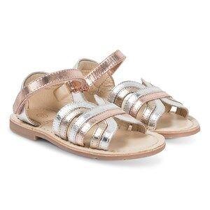 Carrment Beau Velcro Strap Sandals Silver/Bronze Lasten kengt 22 (UK 5)