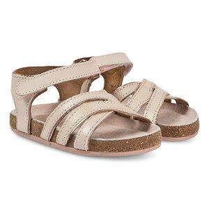 Carrment Beau Rose Gold Velcro Strap Sandals Lasten kengt 24 (UK 7)