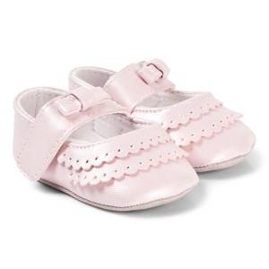 Image of Absorba Bow Detail Crib Shoes Pink Lasten kengt 15-16 (3-6 months)