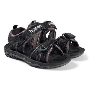 Hummel Sport Glitter Sandals Black Lasten kengt 28 EU